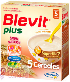 BLEVIT PLUS SUPERFIBRA PAPILLA 5 CEREALES - (300 G )