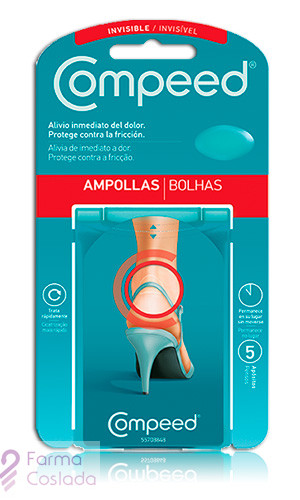 COMPEED APOSITO HIDROCOLOIDE - AMPOLLAS INVISIBLES (5 APOSITOS )