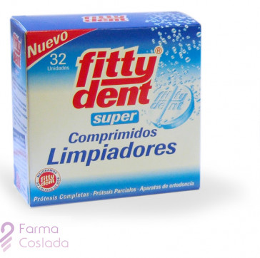 FITTYDENT SUPER COMP - LIMPIEZA PROTESIS DENTAL (32 COMP )