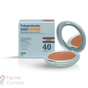 FOTOPROTECTOR ISDIN COMPACT SPF-50+ - MAQUILLAJE COMPACTO OIL-FREE (ARENA 10 G )