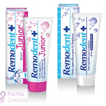 REMODENT PLUS - LIMPIEZA PROTESIS DENTAL (75 ML )