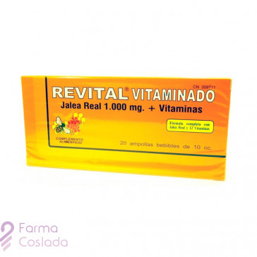 REVITAL JALEA REAL VITAMINADO AMP BEBIBLES - (20 AMPOLLAS )