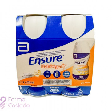 ENSURE NUTRIVIGOR BOTELLA - (4 BOTELLA 220 ML VAINILLA )