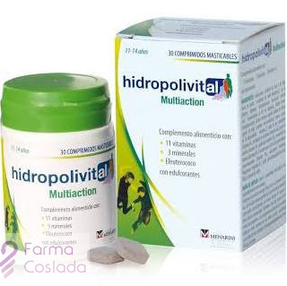 HIDROPOLIVITAL MULTIACTION COMP MASTICABLE - (30 COMP )