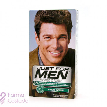JUST FOR MEN - CHAMPU COLORANTE (30 CC MORENO )