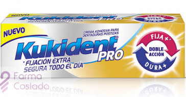 KUKIDENT PRO DOBLE ACCION - CREMA ADH PROTESIS DENTAL (NEUTRO 40 G )