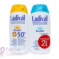 LADIVAL ALLERG FPS 50+ GEL-CREMA - FOTOPROTECCION MUY ALTA +AFTER SUN (PACK DUPLO 200 ML+ 200 ML )