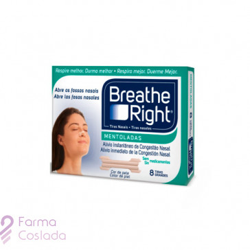 BREATHE RIGHT - TIRA ADH NASAL BALSAMICA (T- PEQ-MED 8 U )