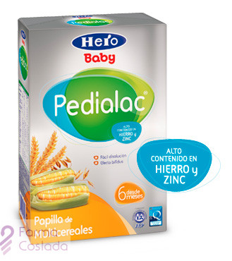 PEDIALAC PAPILLA MULTICEREALES - HERO BABY (600 G )