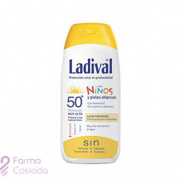 LADIVAL NIÑOS FOTOPROTECTOR FPS 50+ LECHE - FOTOPROTECCION MUYALTA +AFTER SUN (PACK DUPLO 200 ML+ 200 ML )