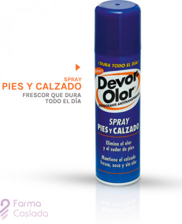 DEVOR OLOR DESODORANTE ANTITRASP PIES Y CALZADO - (SPRAY 150 ML )