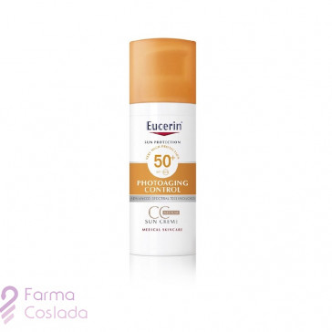 Eucerin Sun CC Cream Photoaging Control Tono Medio FPS 50+
