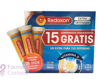 REDOXON EXTRA DEFENSAS 30 COMP EFERVESCENTES +15 GRATIS