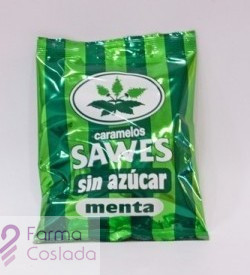 SAWES CARAMELOS BLISTER SIN AZUCAR - (MENTHE BLISTER 22 G )