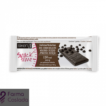 Siken - Snack Time Galleta de Chocolate Negro Suizo 130kcal (25g)