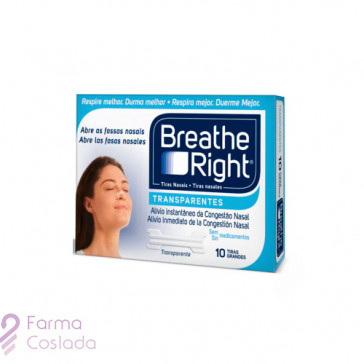 BREATHE RIGHT - TIRA ADH NASAL (TRANSP T- GDE 10 U )