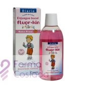 FLUOR KIN INFANTIL ENJUAGUE BUCAL - (FRESA 500 ML )